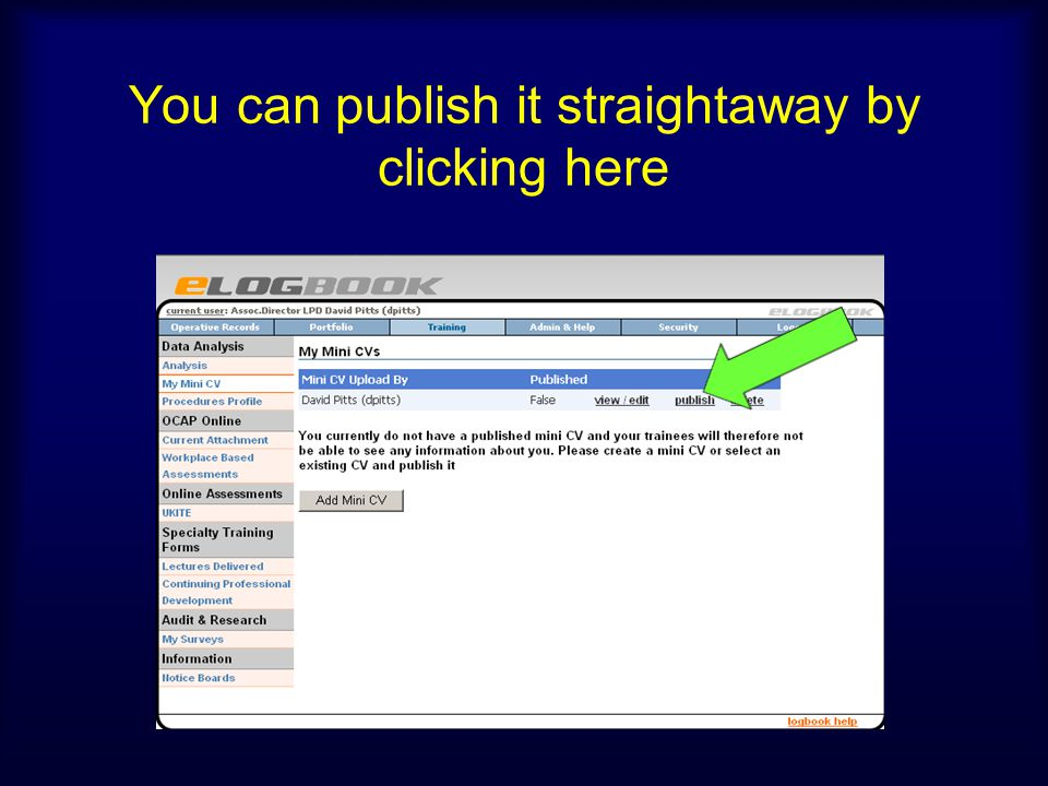 You can publish it straightaway by clicking here