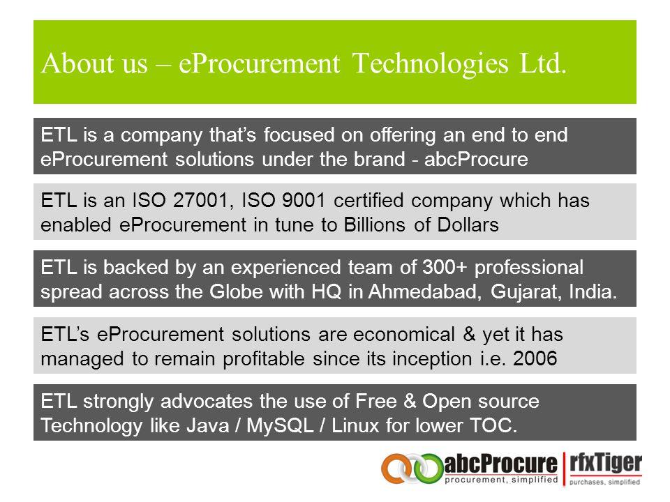 About us – eProcurement Technologies Ltd.