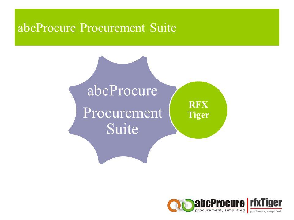 abcProcure Procurement Suite RFX Tiger