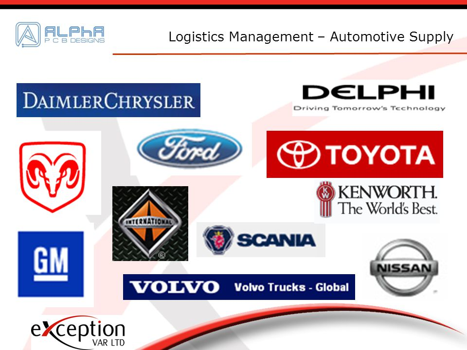 Logistics Management – Automotive Supply