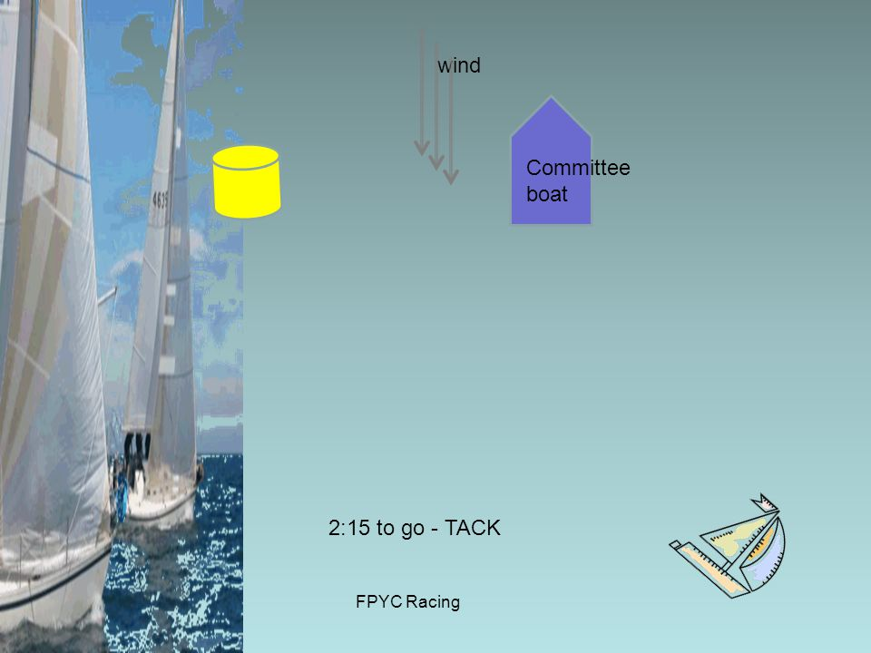 FPYC Racing wind Committee boat 2:15 to go - TACK