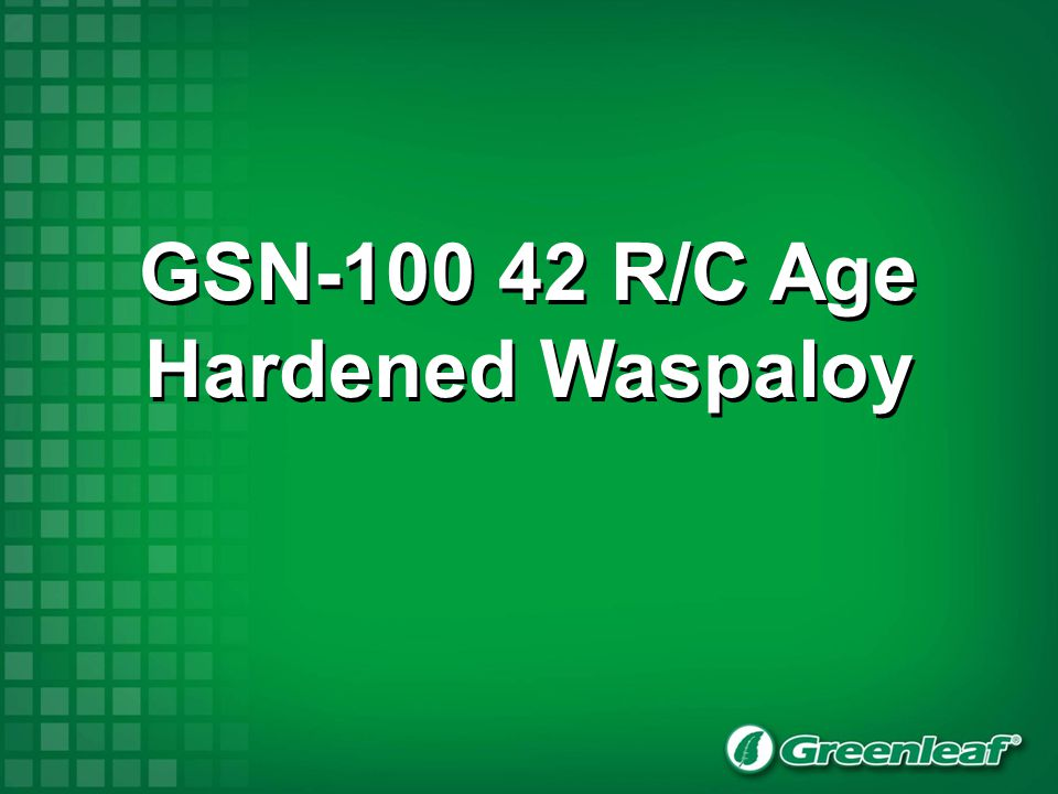 42 R/C age hardened Waspaloy Cutters Inserts FMRN-050R FMRN-063R RNGN-45 FMRN-080R T2A FMRN-100R FMRP-5040RRPGN-43 FMRP-6340R T2A From running all the tests it is apparent that we have a safe secure process with all sizes of cutters (both negative and positive) running at a feed rate of 0.0027-0.0029, (0.07mm-0.075mm) tooth.