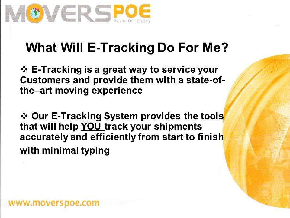 What Will E-Tracking Do For Me.