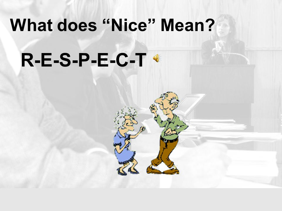 What does Nice Mean.