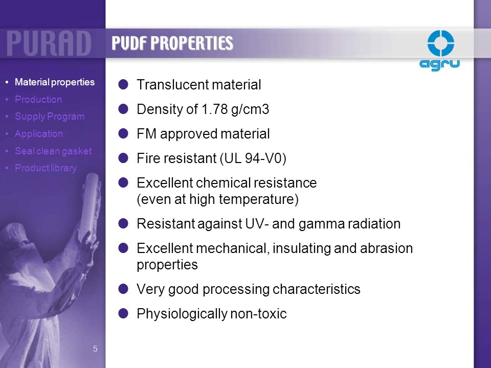 Pipes, fittings, valves and semi-finished products are produced with one type of raw material.