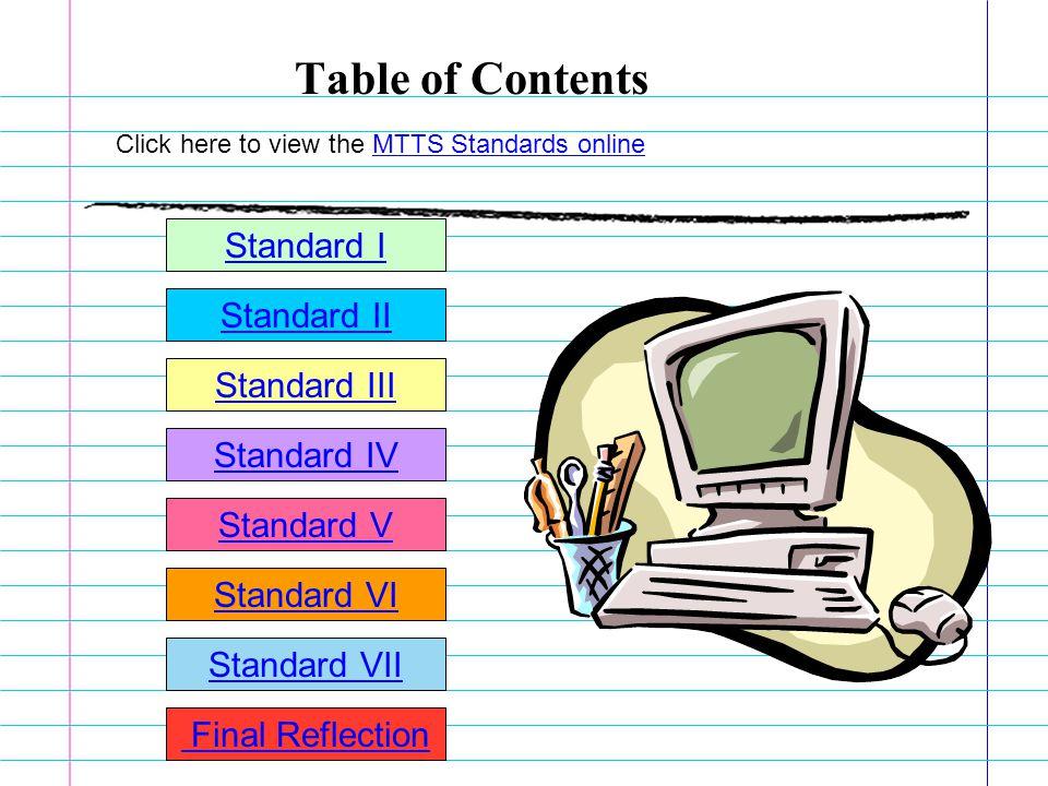 Achievement in the Maryland Teacher Technology Standards By: VJC Candidate Start