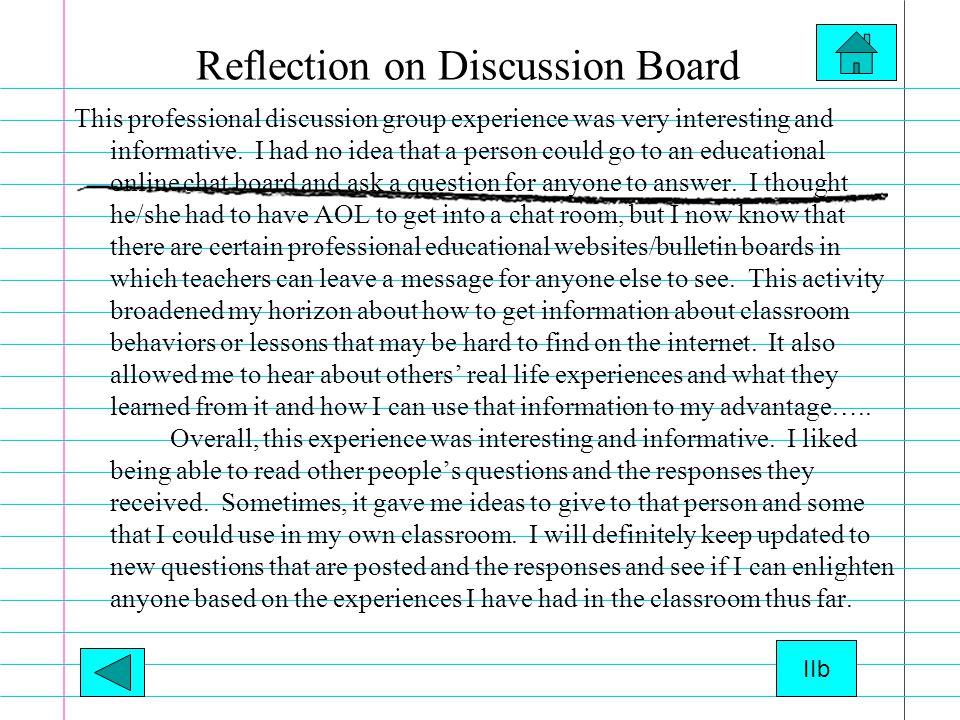 Standard II a Posed Question on proteacher.com Manda