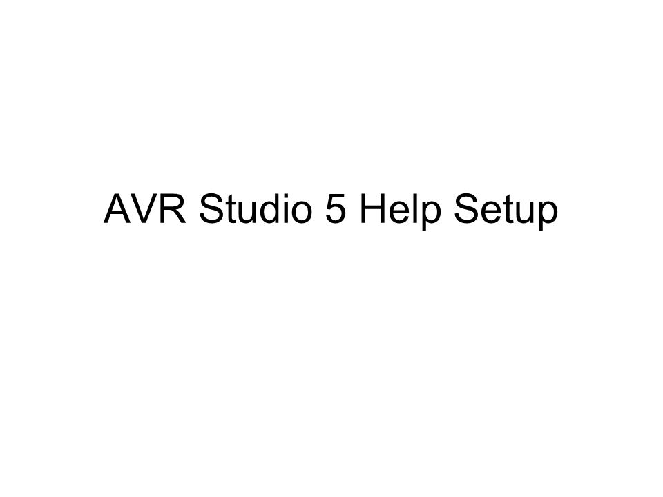 Are you getting the following Page when you trying to goto help in AVR Studio 5 ? YesNo