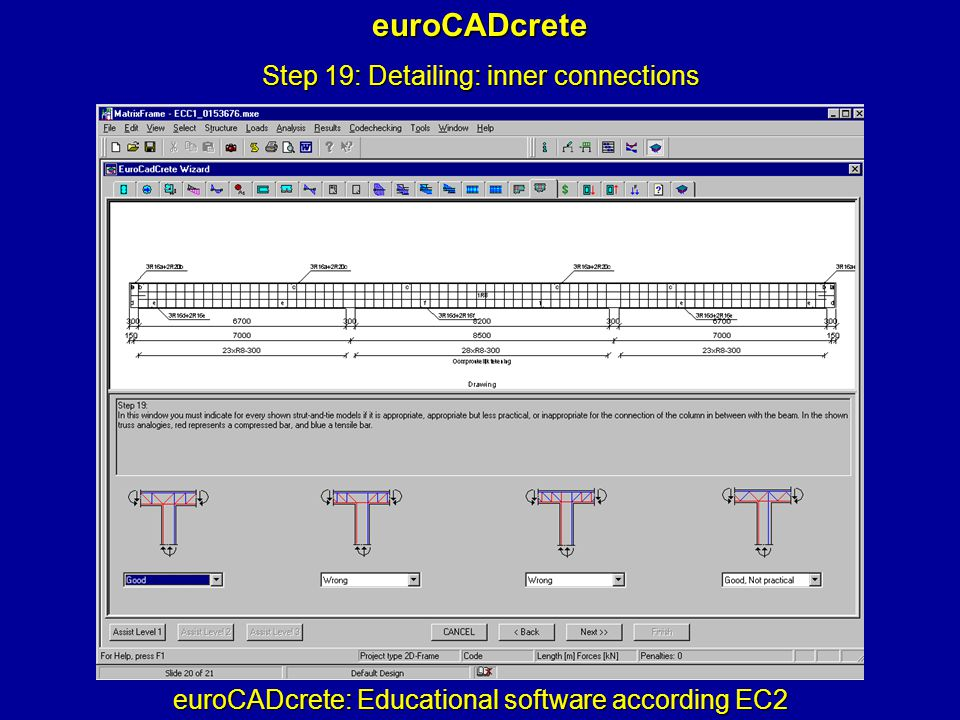 euroCADcrete: Educational software according EC2 euroCADcrete Step 19: Detailing: inner connections
