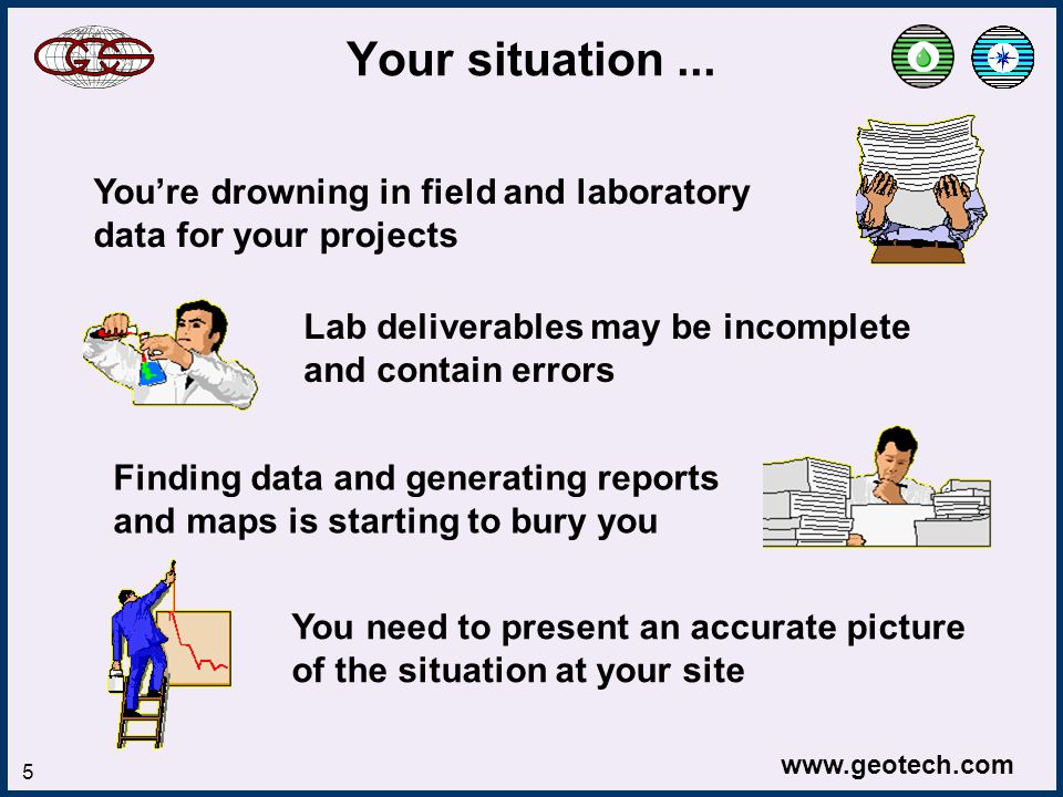www.geotech.com 6 The solution … Geotech will help you better manage your project data from start to finish with software that is easy to learn and use This will let you: Reduce your expenses Improve product quality Gain a competitive advantage Increase your revenue
