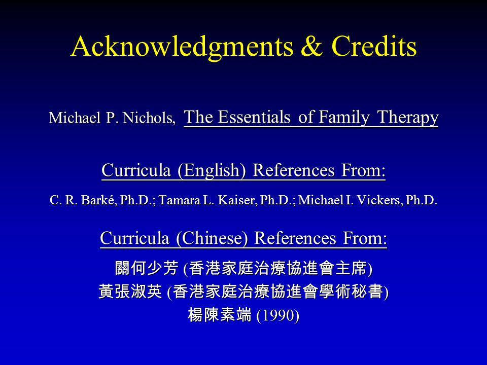 Acknowledgments & Credits Michael P.