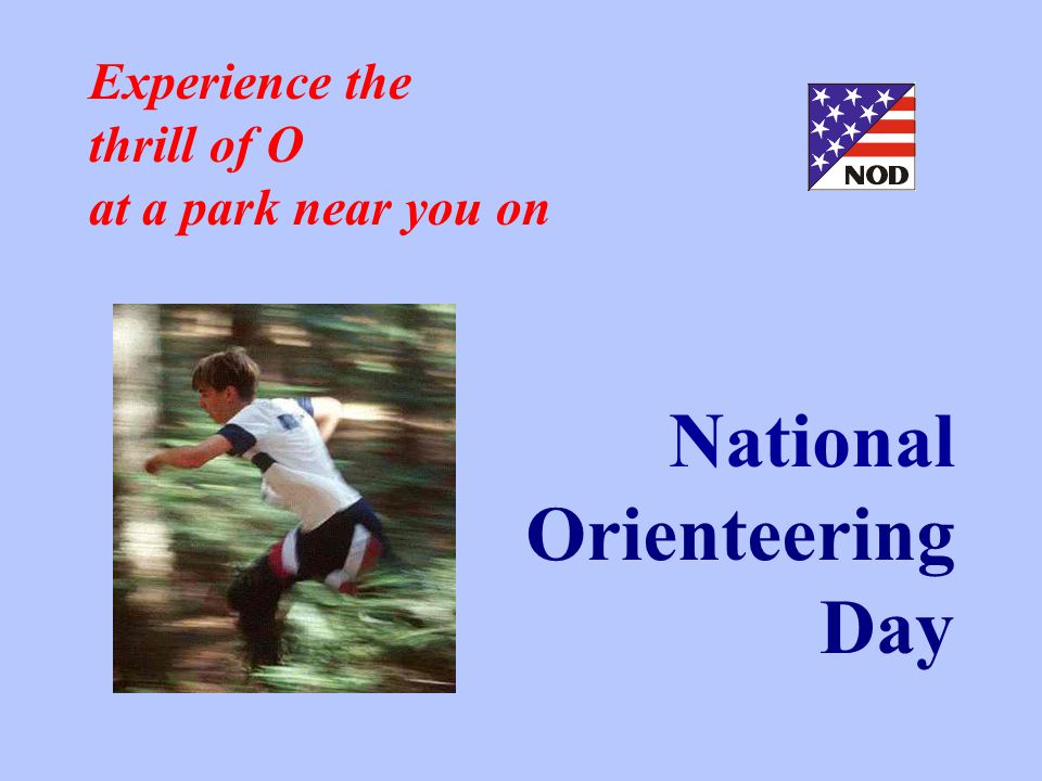 Experience the thrill of O at a park near you on National Orienteering Day