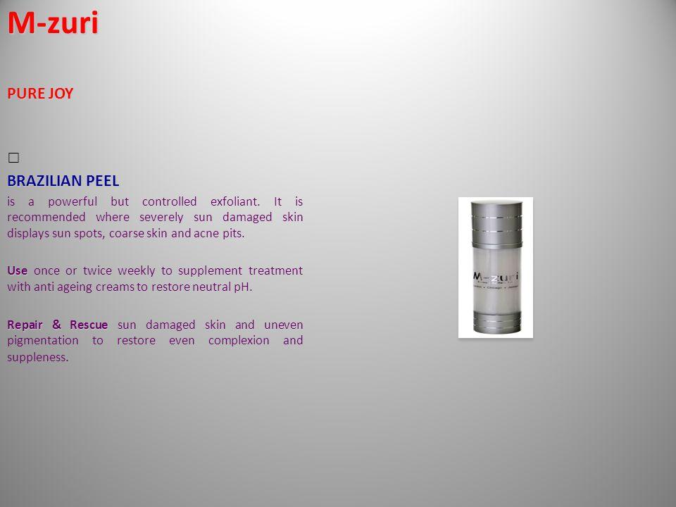 M-zuri PURE JOY BRAZILIAN PEEL is a powerful but controlled exfoliant.