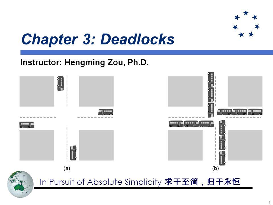 12 Deadlocks Example thread A thread B lock(x) lock(y) lock(y) lock(x)...