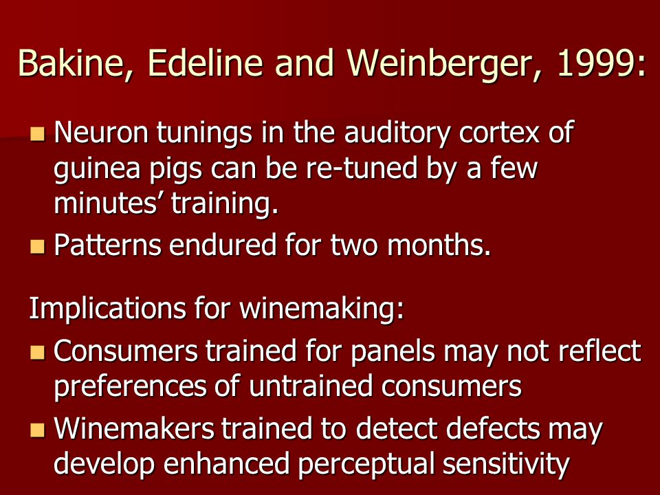 Bakine, Edeline and Weinberger, 1999: Neuron tunings in the auditory cortex of guinea pigs can be re-tuned by a few minutes training.
