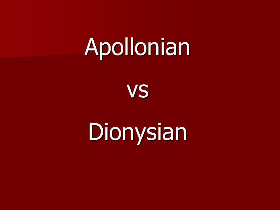 ApollonianvsDionysian