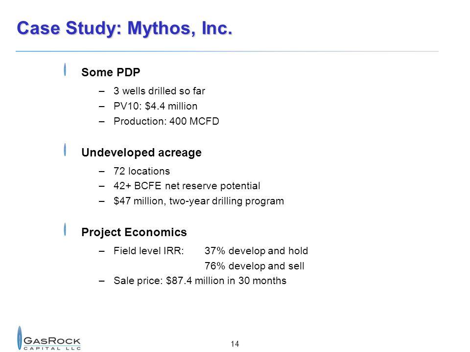 14 Case Study: Mythos, Inc.