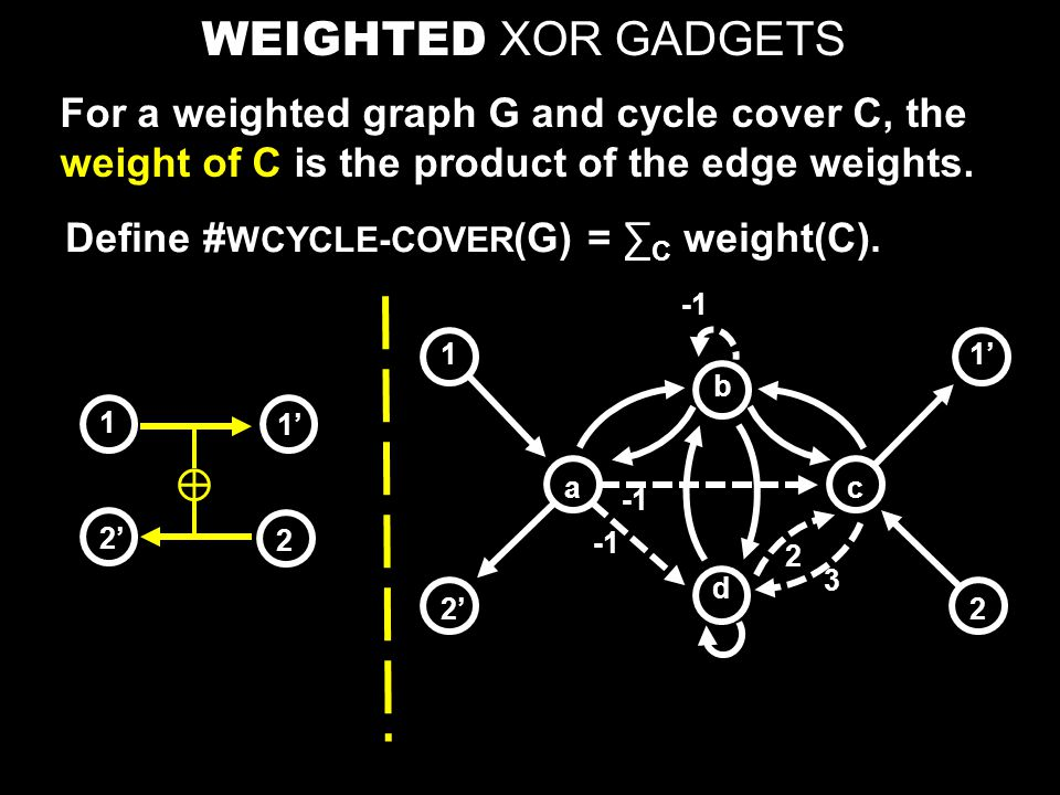 Removing negative weights: Let m = # of XOR gadgets in the resulting graph.