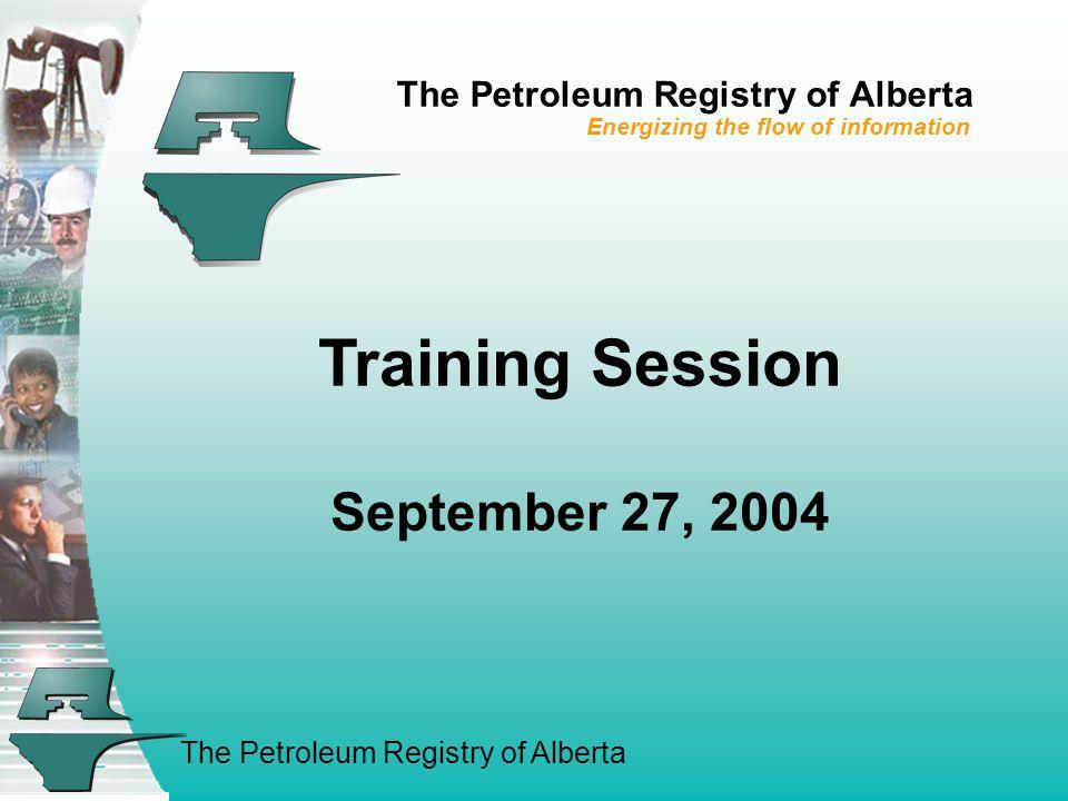 The Petroleum Registry of Alberta 14.
