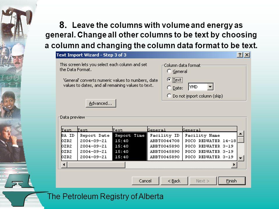 The Petroleum Registry of Alberta 9.