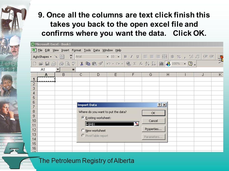 The Petroleum Registry of Alberta 10.