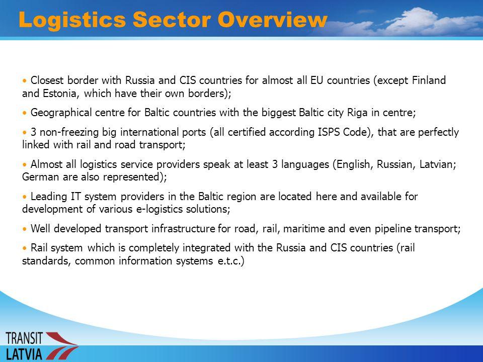 The various transport and logistics industry sectors are represented through various associations in Latvia: Latvian Association of Logistics and Customs Brokers (Latvijas Loģistikas un Muitas Brokeru Asociācija) (http://www.lmba.lv); Latvian Transit Business Association (Latvijas Tranzīta Biznesa Asociācija) Latvian Association of International Road Carriers (Latvijas Auto) (http://www.lauto.lv); Latvian Association of Freight Forwarders (LAFF, Latvijas Nacionālā Kravas Ekspeditoru Asociācija) (http://www.laff.lv); Latvian Association of Stevedoring Companies (Latvijas Stividoru Asociācija) (http://www.stividori.lv); Latvian National Association of Shipbrokers and Shipping Agents (NALSA) (http://www.nalsa.lv); Latvian Port Council under the umbrella of the Ministry of Communications (http://www.sam.gov.lv) Portal of transit business industry in Latvia (http://www.transport.lv).