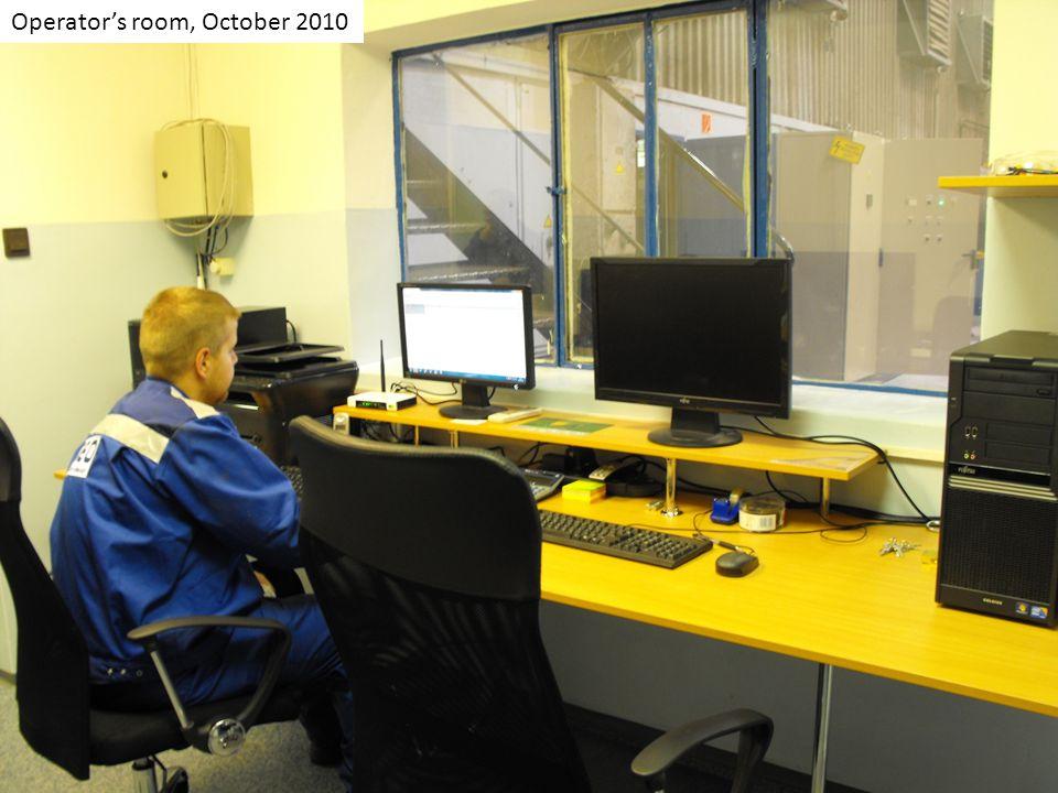 Operators room, October 2010