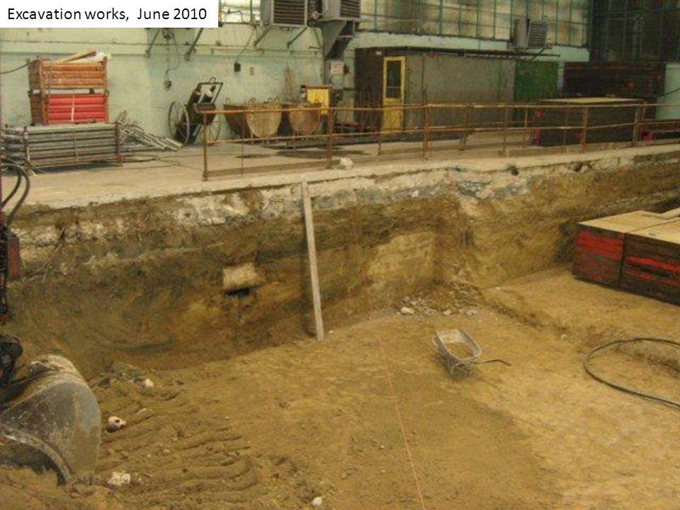 Excavation works, June 2010