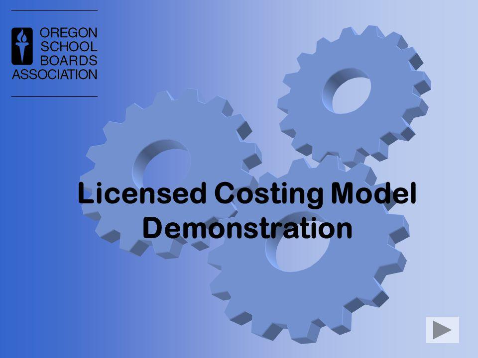 Licensed Costing Model Demonstration
