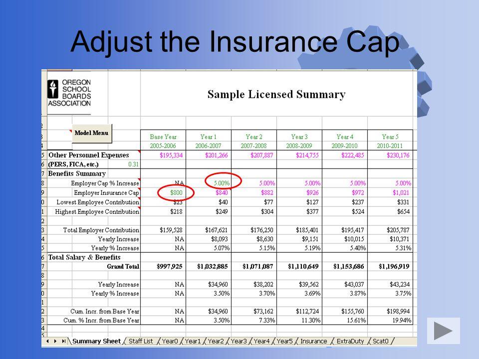 Adjust the Insurance Cap
