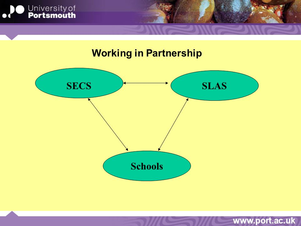 www.port.ac.uk Working in Partnership SECSSLAS Schools