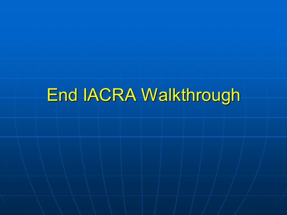 End IACRA Walkthrough