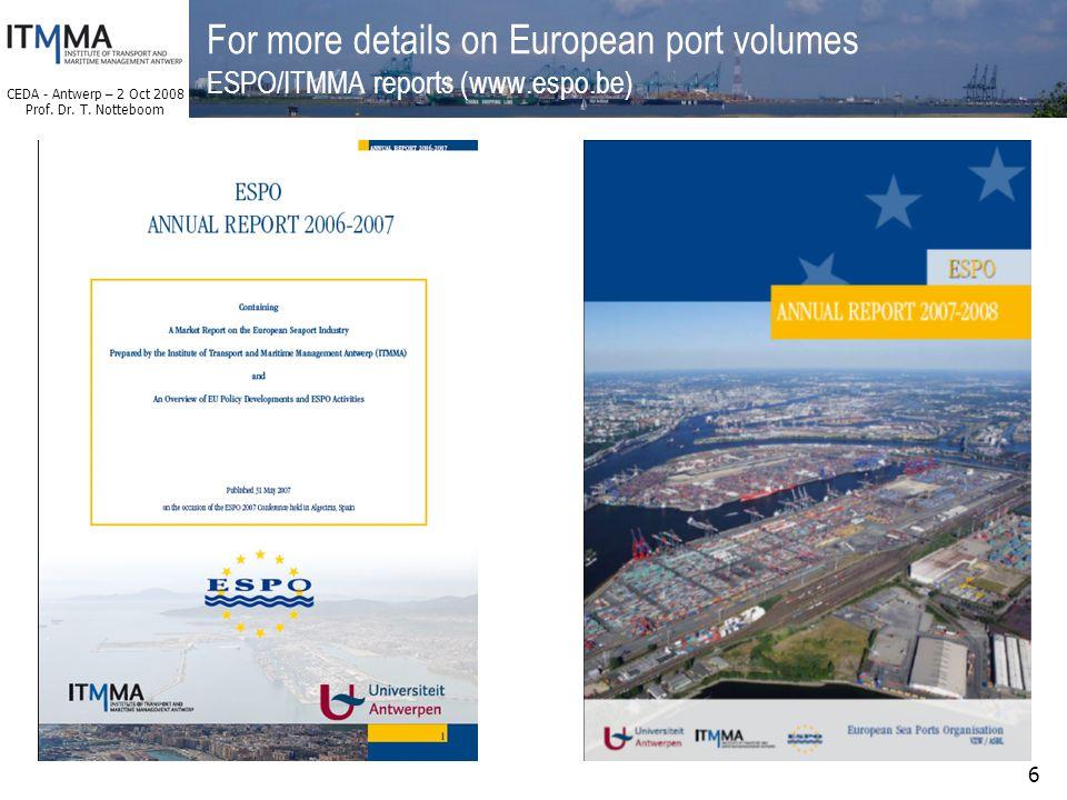 CEDA - Antwerp – 2 Oct 2008 Prof. Dr. T.