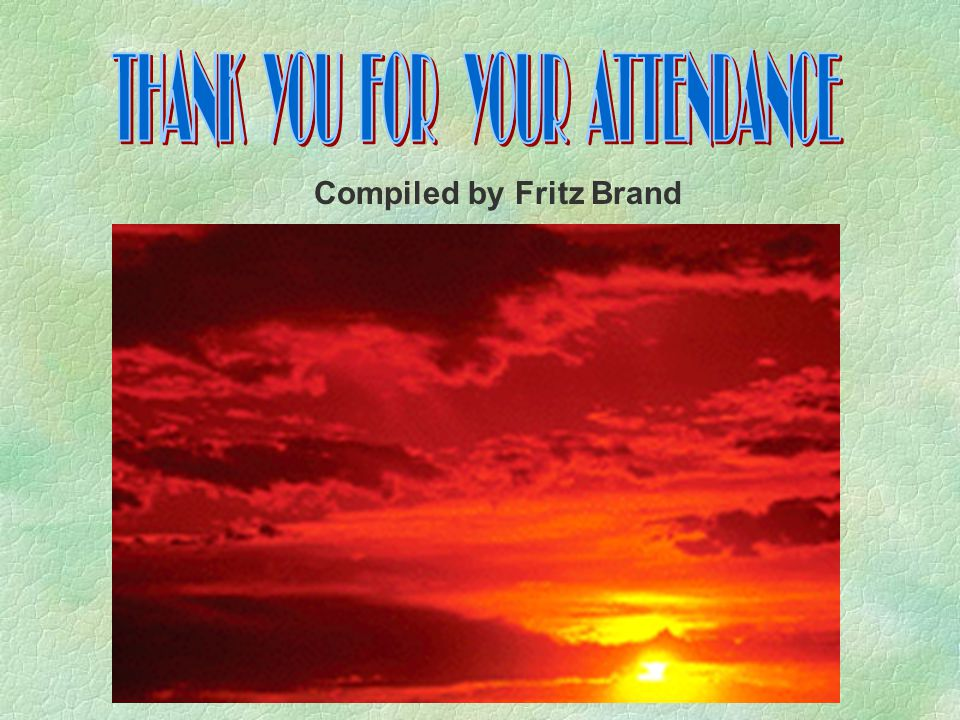 Compiled by Fritz Brand