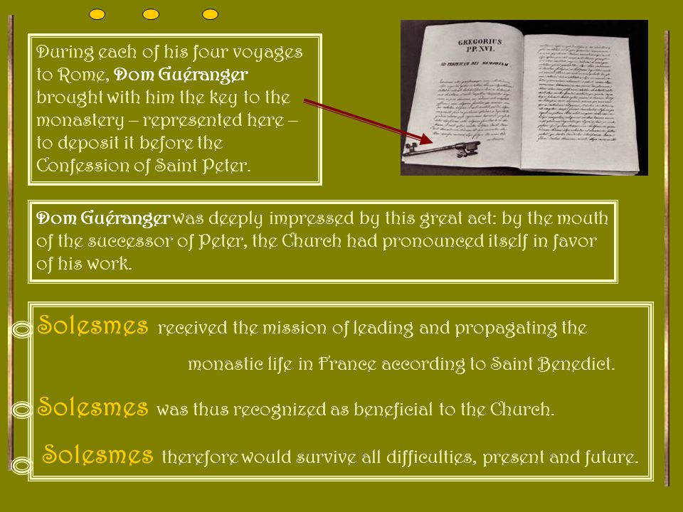 And behold the response! The Papal Brief