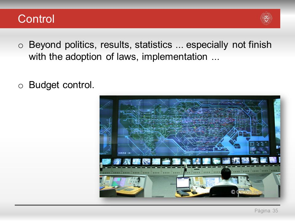 Página Control o Beyond politics, results, statistics...