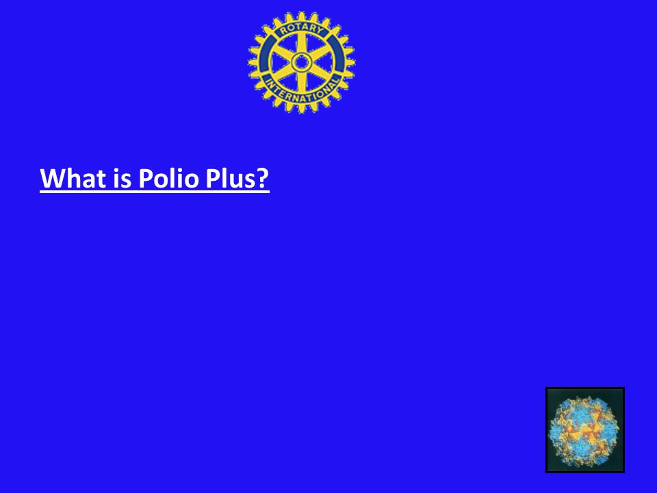 What is Polio Plus