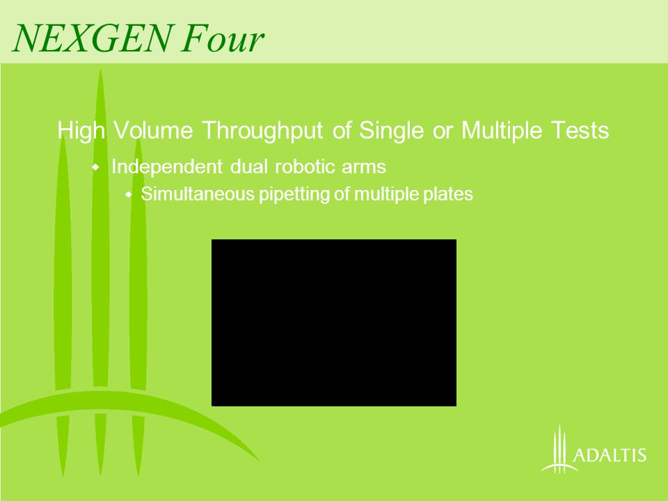 NEXGEN Four Two Independent Washheads Separate from Pipettors