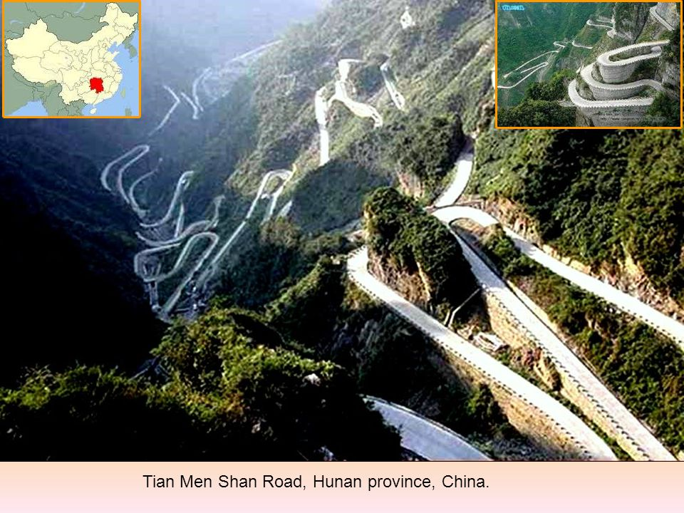 Tian Men Shan Road, Hunan province, China.