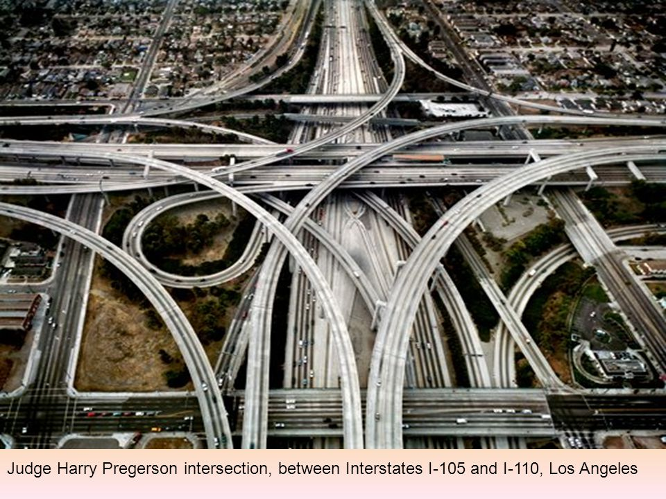 Judge Harry Pregerson intersection, between Interstates I-105 and I-110, Los Angeles