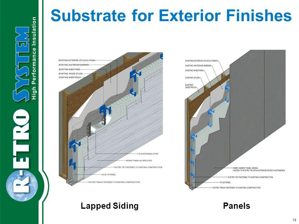 Substrate for Exterior Finishes Lapped SidingPanels 19