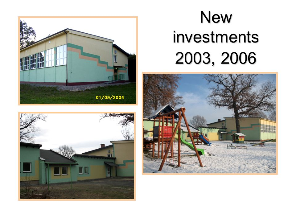New investments 2003, 2006