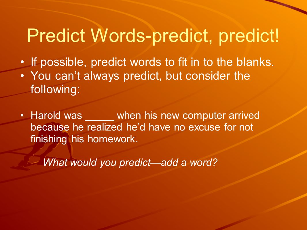 ****Traps and Tricks Did you start to predict something positive or happy.