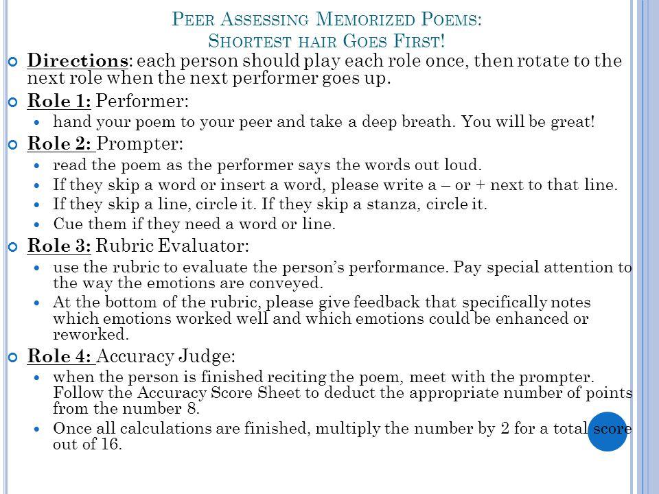 Introduce Yourself Title Author Recite Poem