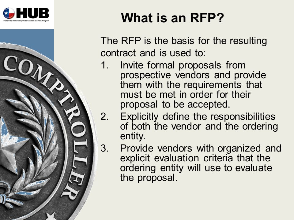 What is an RFP.