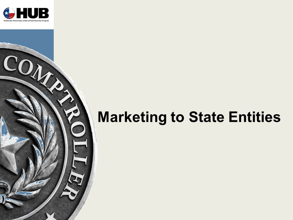 Marketing to State Entities