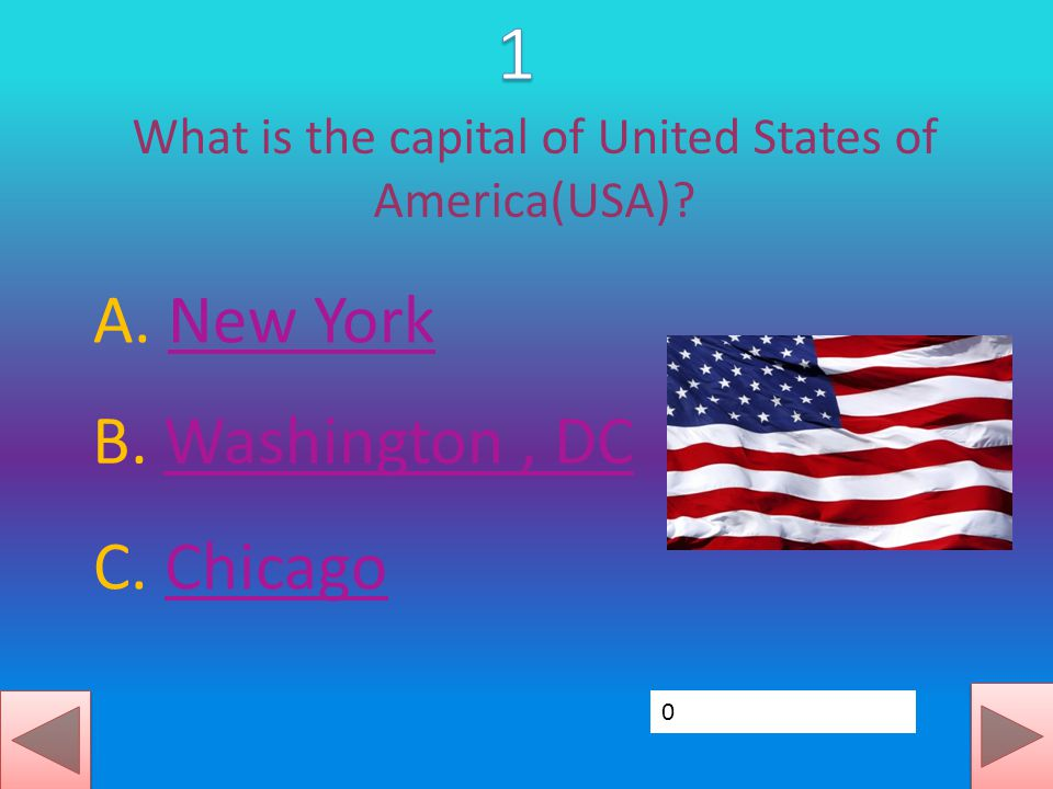 What is the capital of United States of America(USA).