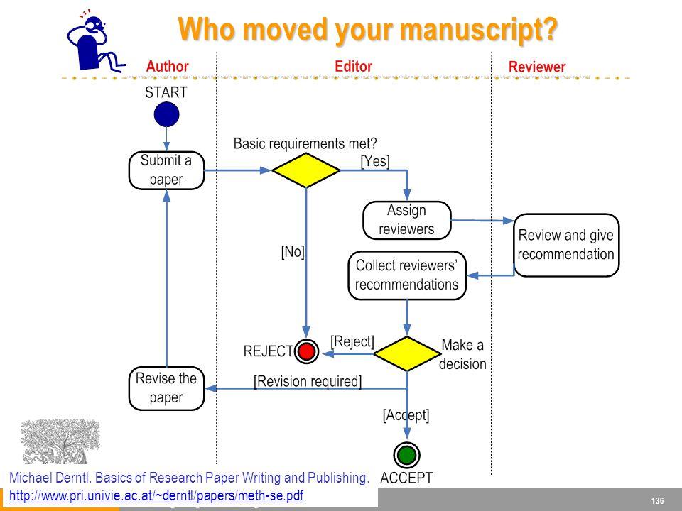 136 Who moved your manuscript.Who moved your manuscript.