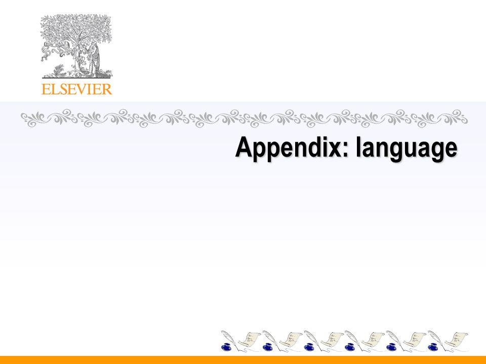 Appendix: language