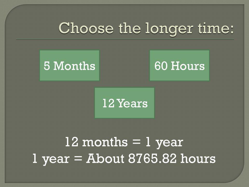 1 century = 100 years ½ century = 50 years